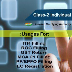 Class-2 Individual Digital Signature